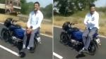 'இந்தியாவின் ஓட்டுனர்-இல்லா மோட்டார்சைக்கிள்'- நகைச்சுவையாக இணையத்தில் வைரலாகும் வீடியோ!!
