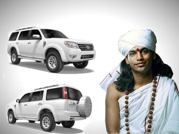 nityananda quits favourite car before surrender