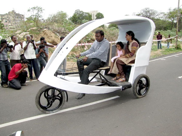 rickshaw gets an eco makeover