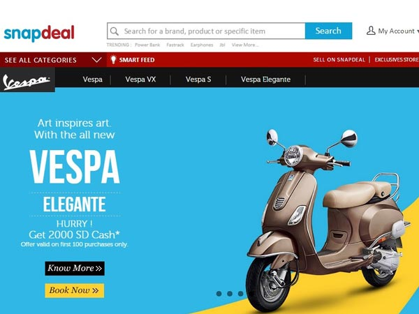 Snapdeal Vespa