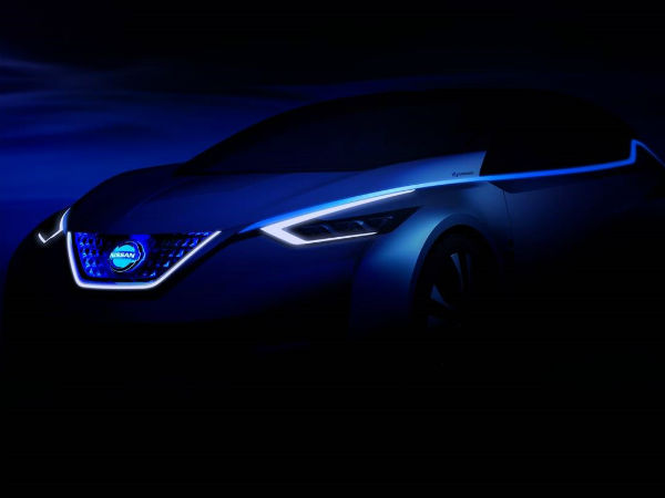 Nissan releases Teaser of Nissan Leaf ahead of 2015 Tokyo Motor Show