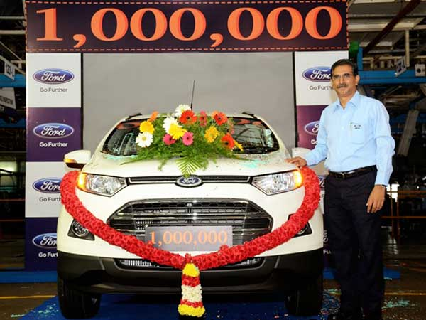 Ford EcoSport Is the One Millionth Vehicle To Roll Out Of Chennai Facility