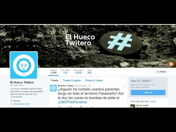 #elhuecotwitero-pothole-tweeting-Twitter-Account-page