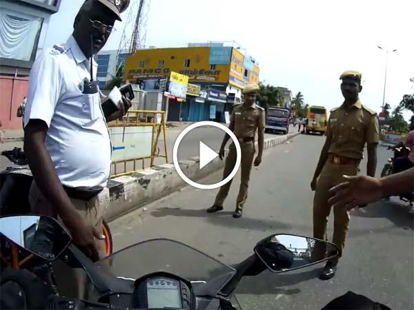 சென்னையில் போக்குவரத்து காவலர்கள் அத்துமீறலா... காவல்துறையினர் விளக்கம்!