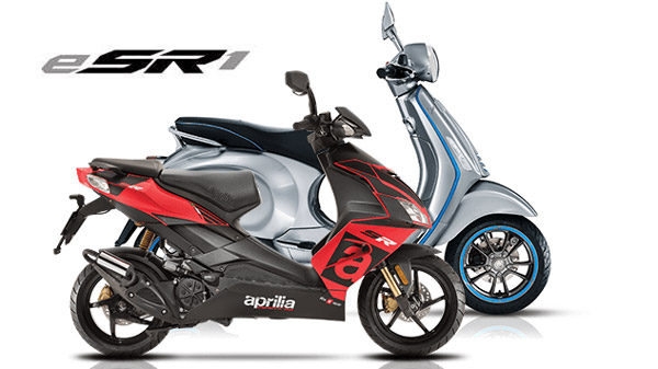 Electric scooter under the Aprilia brand !!  Posted by Piaggio, this is the logo!