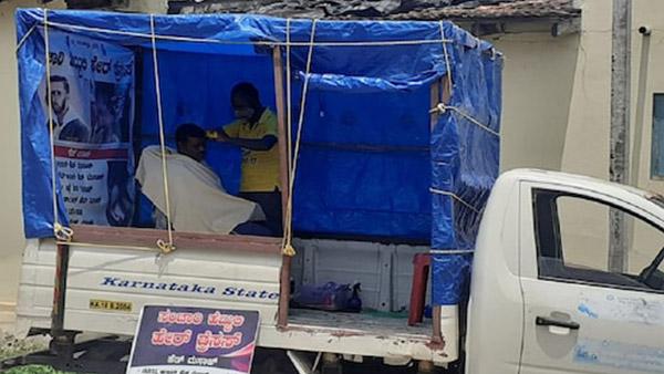 இதுவல்லவோ வியாபார யூக்தி... நடமாடும் சலூன் கடை மூலம் நாளுக்கு ரூ.1,500 கல்லா பார்த்துவரும் இளைஞர்!!