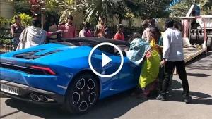 100 ரூபாய் பீட்ஸா ஆன  ரூ.4 கோடி லம்போர்கினி சூப்பர் கார்...!!!