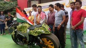 மாருதி 800 கார் இன்ஜினுடன் இந்திய ராணுவத்திற்கு அதிநவீன பைக்