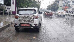 மஹிந்திரா கேயூவி100 எலெக்ட்ரிக் - புதிய ஸ்பை படங்கள்!