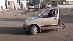 3 வீலராக மாறிய மாருதி சுஸுகி 800... இதுதான் உலகின் மிக குறுகிய மாருதி 800... இதோ வீடியோ!