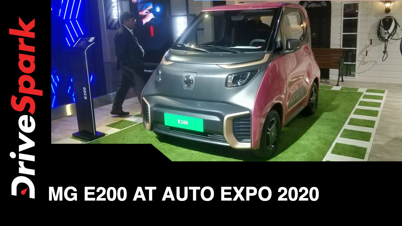 MG Motors Showcases e200 At Auto Expo 2020